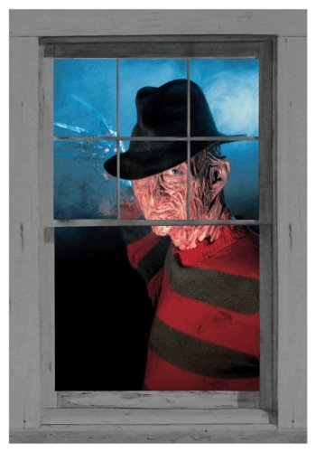 WOWindow Posters Freddy's Ready Nightmare on Elm Street Halloween Window Decoration 34.5