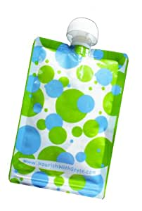 5 Pack | Polka Dot | Nourish Reusable & Refillable Food Pouch for Babies & Kids