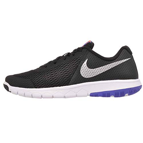 Nike Boy's Flex Experience 5 (GS) Running Shoes-Black/Chrome-7 ()