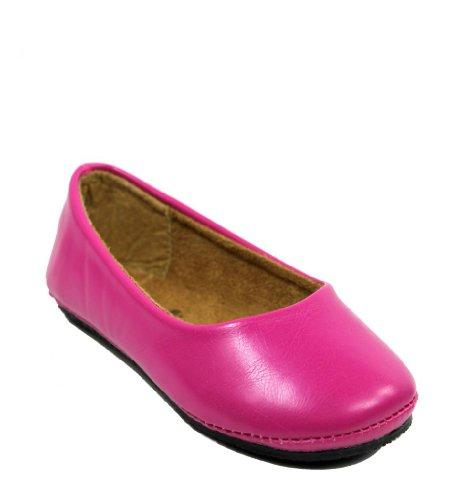 Kali Footwear Girl's Pala Jr. Round Toe Ballet Flat 8,Hot (Toddler Hot Pink Footwear)