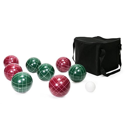 WYZworks 100mm Bocce Game Ball Set (9 Piece) with Carrying Case