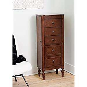 Hives and Honey Suzanne Jewelry Armoire, Walnut