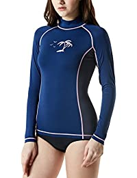 Women's UPF 50+Swim Shirt Rashguard Short/Long Sleeve FSR...