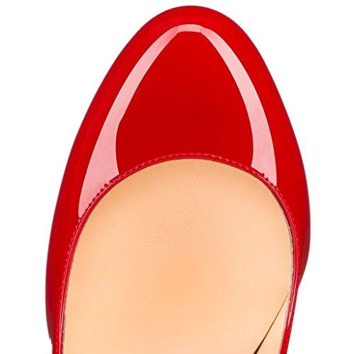 Aiguille Taille Talon Femmes Rond Chaussures Stiletto Bout Escarpins Ubeauty Rouge Grande Yw0qpzw