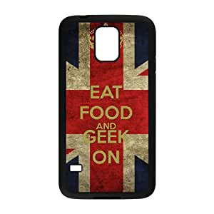 Samsung Galaxy S5 Cell Phone Case Black Keep Calm Geek On 003 YB4956337