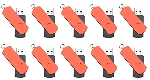 FEBNISCTE 10pcs Red Euro Style Swivel 16GB USB3.0 Flash Drive Memory Stick by FEBNISCTE