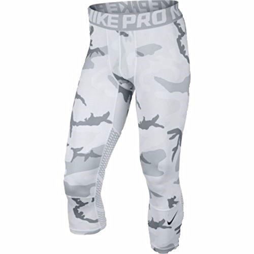 Nike Mens Pro Hypercool 3/4 Tights White Grey 848844-100 (M)
