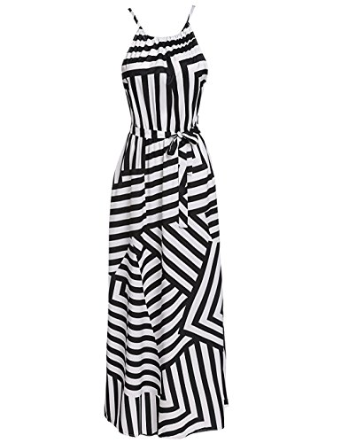 long black and white striped dress - 5