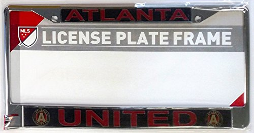 fan products of Atlanta United FC LASER FRAME Chrome Metal License Plate Tag Cover Soccer Football Club