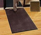 Walk Off Floor Mat - Carpet Mat Classic - 4' x 10' - Walnut - Economy Grade Indoor Entry Mat