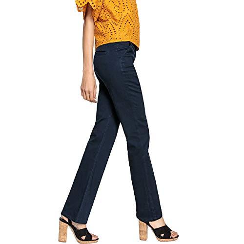 La 5 Redoute Collections Tasche Pantaloni Navy Donna Flare XcSqxrUXw