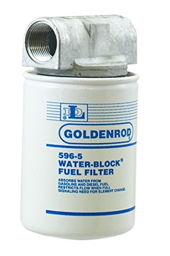 GOLDENROD (596-3/4) Canister Water-Block Fuel Tank Filter with 3/4