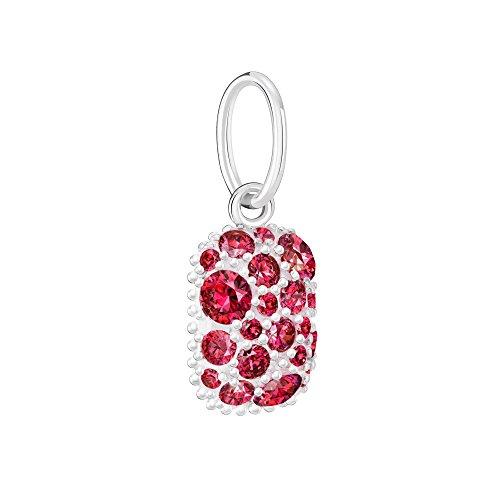 (Chamilia Women's Birthstone Galaxy July - Swarovski Zirconia Bead Charm, Red, One Size)