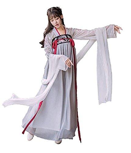 Peachi Women's Hanfu Halloween Cosplay Embroidered Chinese Costume (M) -