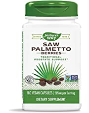 Nature's Way Saw Palmetto Berries; 585 mg; Non-GMO Project Verified; TRU-ID Certified; 180 Vcaps (Packaging May Vary)