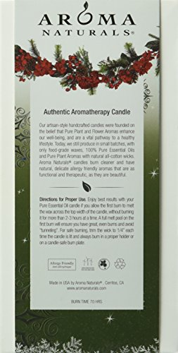 Aroma Naturals Holiday Essential Oil Pillar Candle, Juniper, Spruce and Basil, Fresh Forest, 2.75 inch x 5 inch - incensecentral.us