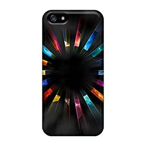 Awesome Colors Of Joy Flip Cases With Fashion Design For Iphone 5/5s