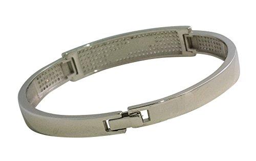 925 Solid Sterling Silver Bangle Bracelet Beautiful Intricately Made Cz Bracelet AUDI AND JAGUAR DESIGN FR21 (AUDI) by JANIZZ (Image #2)