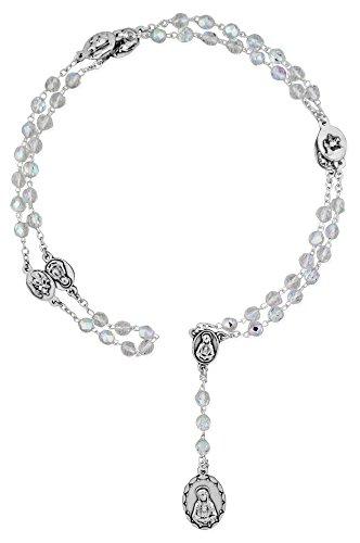 Venerare Traditional Catholic Seven Sorrows Rosary (Clear Crystal)