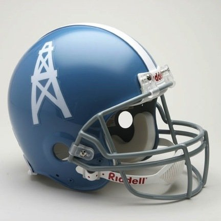 Riddell Houston Oilers / Tennessee Titans 1960-1963 Authentic Throwback Helmet (Oilers Houston 1962)