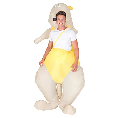Bodysocks Adult Inflatable Kangaroo Fancy Dress Costume
