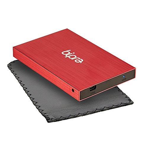 Bipra 250Gb 250 Gb 2.5 Usb 2.0 External Pocket Slim Hard Drive - Red - Fat32 (250Gb) by BIPRA (Image #4)