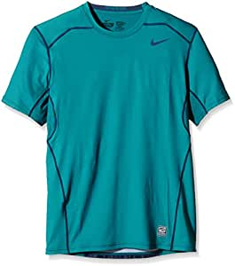 NIKE Pro Combat Hypercool Compression Fitted Shirt, Green, Large, 636155 309