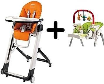 Superieur Peg Perego Siesta Highchair, Arancia + Peg Perego High Chair Play Bar