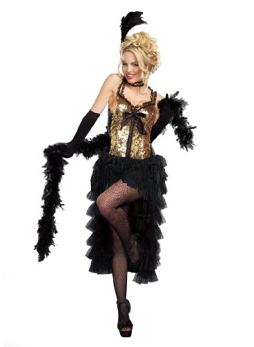 Dreamgirl Women's Burlesque Bombshell, Black, (Women's Burlesque Bombshell Costumes)