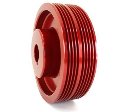 - GrimmSpeed 095015R Lightweight Crank Pulley-Red