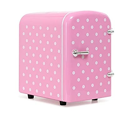 MINI ZZANG MINI-04 Compact Cosmetics Refrigerator Cooler/Warmer Portable Fridge 4Liter Cute [Pink]
