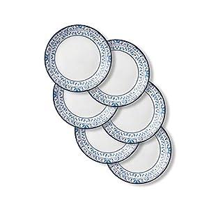 Corelle Chip Resistant Lunch Plates, 6-Piece, Portofino 41dOLBggQuL