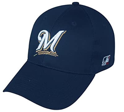 Milwaukee Brewers YOUTH (Ages Under 12) Adjustable Hat MLB Officially Licensed Major League Baseball Replica Ball Cap by OC Sports Outdoor Company