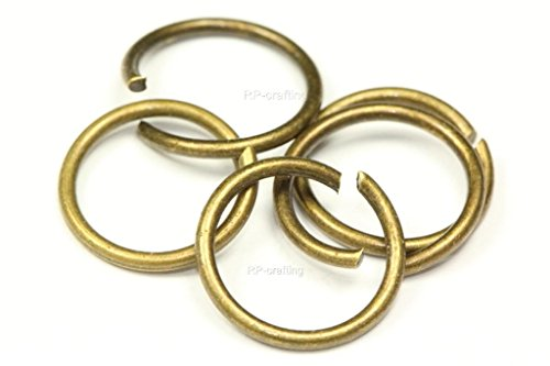 50pcs 5mm Top Quality Open Jump Rings (Wire~0.7mm), Antique Bronze Plated Copper CF85-5