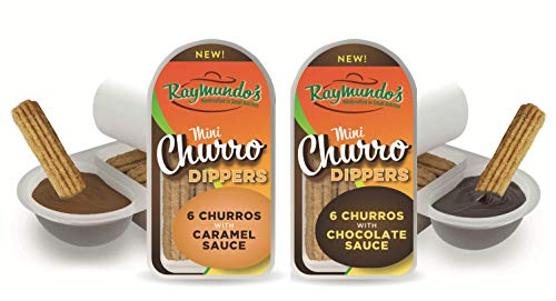 - Raymundo's Cinnamon Churro Dippers with Chocolate & Caramel Sauce - 12 Count
