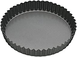 Master Class Non-stick Fluted Loose Base Quiche Tin Round 25cm Cake Bakeware