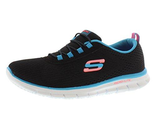 Skechers Game Maker Running Women's Shoes Size 5.5 Black/Blue