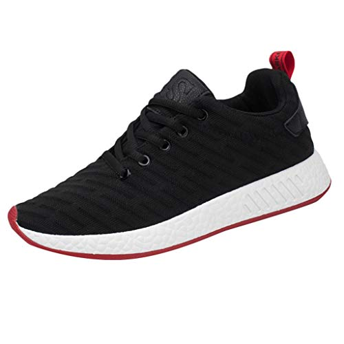 iHPH7 Sneakers Casual Athletic Comfortable Running Shoes Light Tennis Footwear Walking Workout Outdoor Casual Fashion Mesh Men (43,Black)
