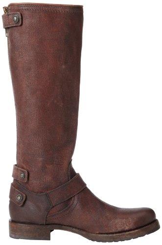 FRYE Women's Veronica Back-Zip Boot, Dark Brown Stone Antique, 6.5 M US