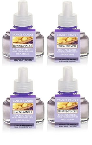 Yankee Candle 4 Pack Bundle Lemon Lavender ScentPlug Refill 0.6 Oz.