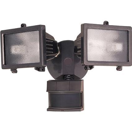 Chamberlain DualBrite Twin Halogen Motion Sensing Light Model SL-5512 - Sensor de movimiento (