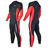 HEVTO Wetsuits Guardian Family Full 3mm Neoprene Scuba Diving Suits Keep Warm Back Zip Swimming for Water Sports