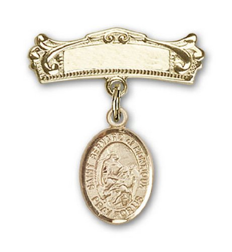 Icecarats Or Bijoux De Créateurs Rempli R. Bernard De Charme De Montjoux Broches Badge Arc 7/8 X 3/4