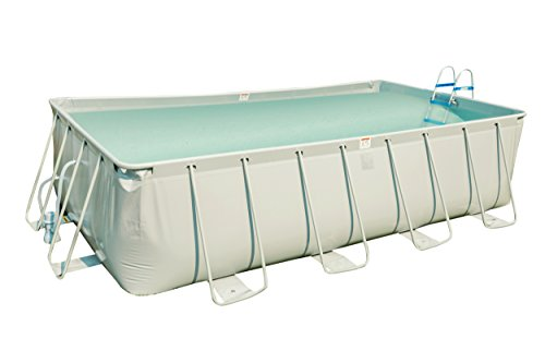 MCombo Rectangular Metal Frame Above Ground Swimming Pool Set with Filter Pump System 6600-1809 by MCombo