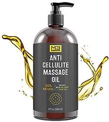 M3 Naturals Anti Cellulite Massage Oil I...