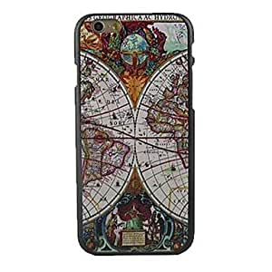 "For iPhone 5s Case, Fashion Map Pattern Protective Hard Phone Cover Skin Case For iPhone 5s (5s.7"") + Screen Protector"