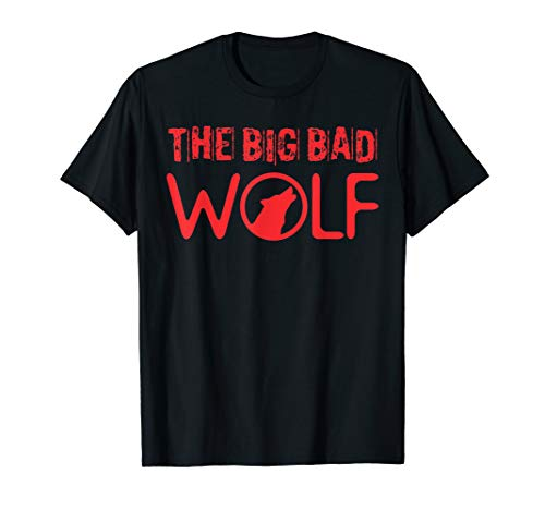 The Big Bad Wolf Graphic Tee Shirt - Halloween Literary ()