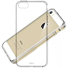iPhone 5S Case, MXx Apple iPhone 5 5S SE Clear Case Bumper Cover with Integrated Shock-absorbing TPU Design and Anti-Scratch Ultra Clarity PC Back Panel - (Crystal Clear)