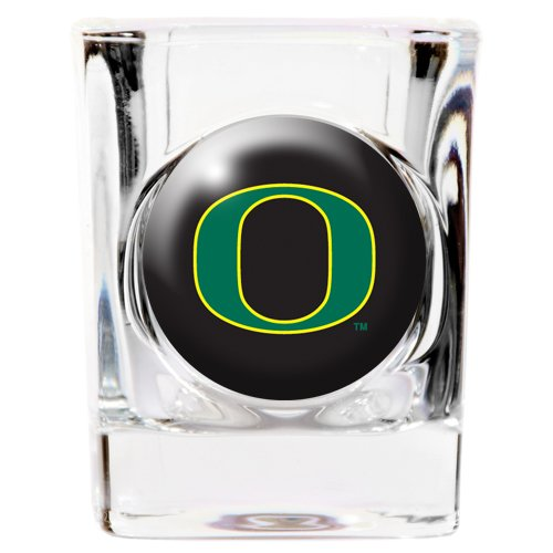 Great American 8900622920 2 oz. Oregon Ducks Square Shot Glass ()