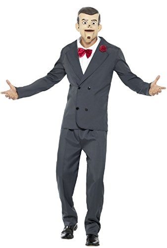 Mens Official Goosebumps Slappy Night Of The Living Dummy Ventriloquist Halloween Horror TV Book Film Fancy Dress Costume Outfit (Men: Large) ()